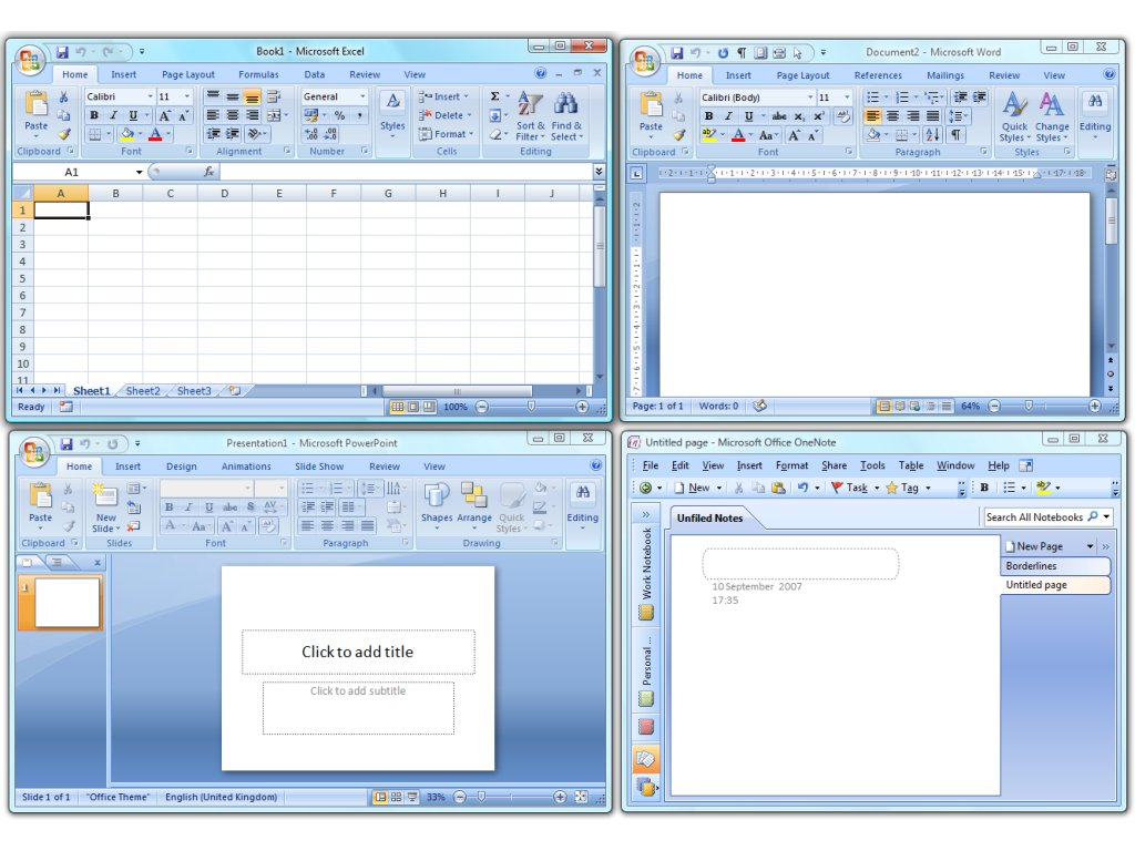 Office 2007 or office and presentations that MS Office Compatibility