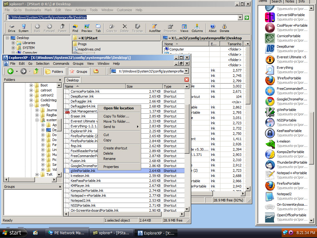 File managers, PC-Tools and Virtualization software