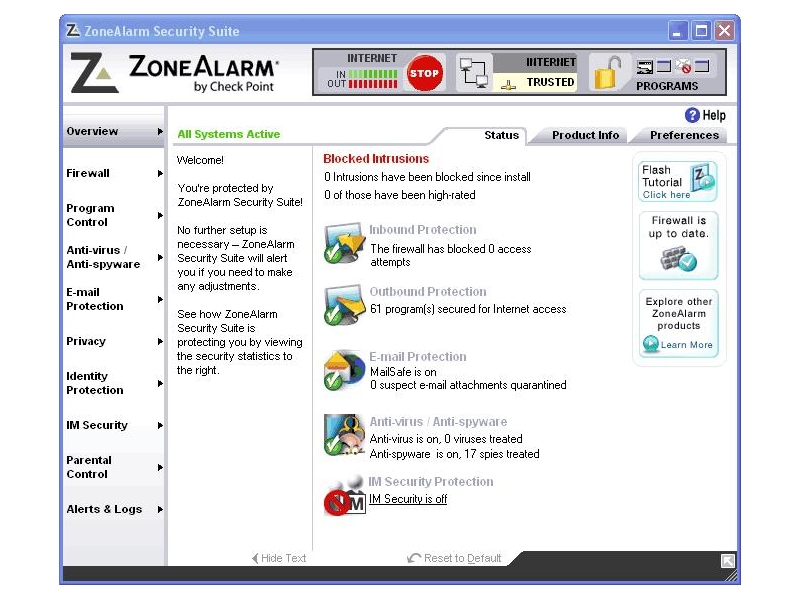 CheckPoint ZoneAlarm Pro v7.0.337.000 Incl Keymaker by ACME CheckPoint